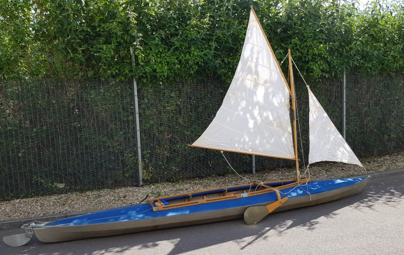 LFB Stern WZ 60 double seater folding kayak with sail rig