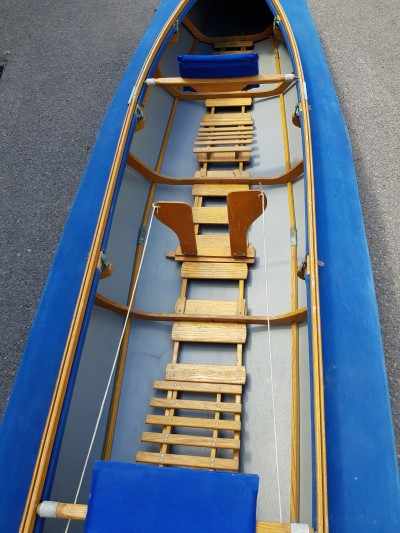 LFB Stern WZ 60 double seater folding kayak - view inside cockpit